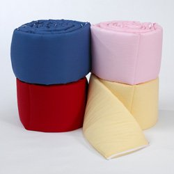 Baby Cradle Bumpers,Color: Pink Size:18X36 front-1074891