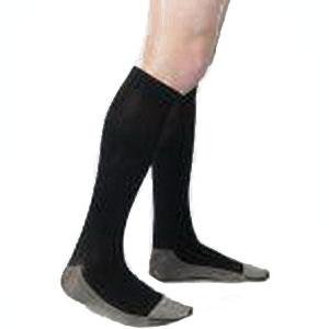Juzo Men's Soft Ribbed Silver Sole Knee-High Compression Stockings, Size 3 Regular