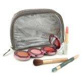 Jane Iredale Grab & Go Just For Me MakeUp Kit (My Steppes Makeup Kit, Mystikol, Just Kissed Lip&Cheek Stain, Brush.....) - # Cool - 4pcs+1 bag