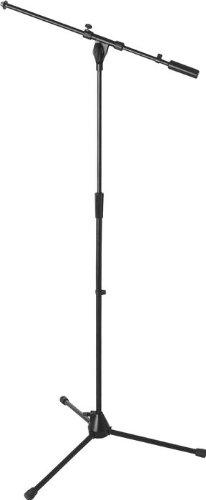 On Stage 9701B Plus Pro Tripod Microphone Boom Stand, Black