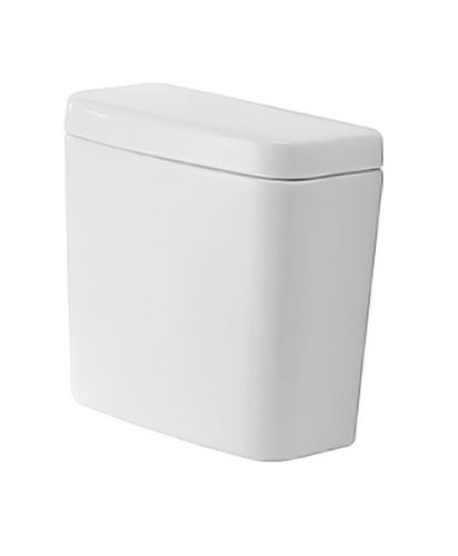 Duravit 0927200001 D-Code Toilet Tank with Side Lever, White Finish