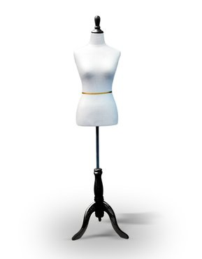 New-White-Female-Dress-Form-Size-6-8-Medium-35-26-32