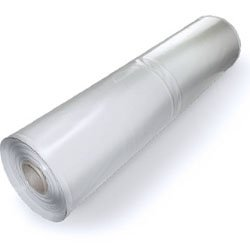 Plastic Poly Sheeting 20 Feet X 100 Feet, True 4 Mil, Transparent/White, Durable, Top Visqueen Plastic Sheeting