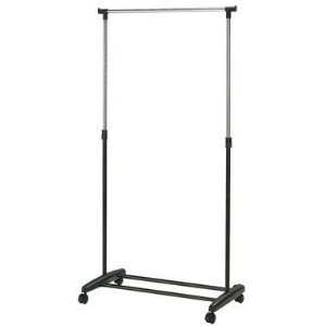 sturdy single clothes rail extra wardrobe space amazon. Black Bedroom Furniture Sets. Home Design Ideas
