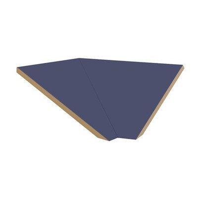 """Corner Sloping Hood Filler Color: Blue, Size: 6.63"""" H X 21"""" W X 20"""" D front-491830"""