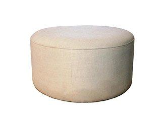 Grande circolare tavolino imbottito in ciniglia di grano (900MM x 400mm High)
