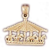 CleverEve 14K Gold Charm Carousels 2.3 Grams