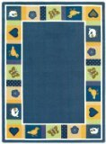 "Joy Carpets Kid Essentials Infants & Toddlers Oval Baby Blues Rug, Bold, 10'9"" x 13'2"""