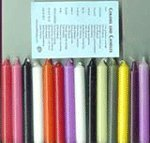 Ritual or Spell Chime Candles 10 Different Colors