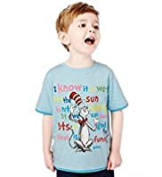 Pure Cotton Cat in the Hat T-Shirt with Stay New&#8482;
