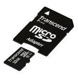 Transcend Information 32 GB MicroSDHC Class 10 UHS-1 Memory Card with Adapter (TS32GUSDU1)
