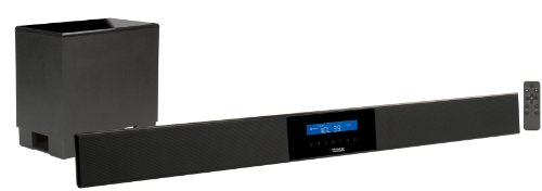 Pinnacle Pbar 2.1 Sys 72-320 2.1-Channel System With Powered Soundbar And Wireless Subwoofer (Black)