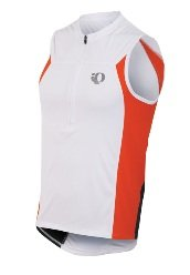 Pearl Izumi Men's Select Tri Sleeveless Jersey, White/Cherry Tomato, XX-Large