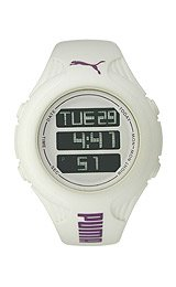 Puma Punch S Digital Dial White Silicone Unisex Watch PU910782001