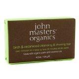 John Masters Organics Birch & Cedarwood Cleansing & Shaving Bar - 128g/4.5oz