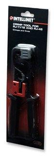 Intellinet RJ45, RJ12, RJ11 all-in-one Crimper, Stripper and Cutter