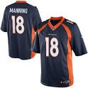 Denver Broncos Peyton Manning #18 Youth Jersey Blue Small by Player