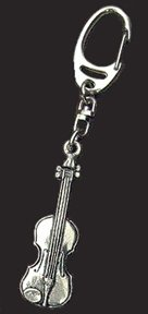 Handcrafted Musical Key Chain - Key Chain Is Cast In Heavyweight English Pewter With A Strong Clip And Chain - Key Chain Features A Detailed Musical Instrument: The Violin