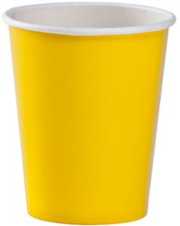 Sunshine Yellow 9oz Hot & Cold Paper Cups (Sold by 1 pack of 36 items) PROD-ID : 1852977