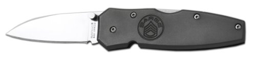 Sarge Knives Sk-301B Gun Metal Aluminum Lockback Folder Knife With 2-1/4-Inch Stainless Steel Blade And Gun Metal Gray Anodized Handle