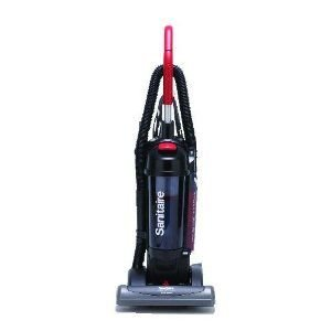 Sanitaire True Hepa Commercial Bagless/Cyclonic Upright Vacuum, Red front-101861
