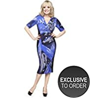 Twiggy for M&S Woman Leaf Print Panelled Dress