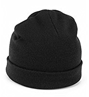 Turn Up Brim Beanie Hat