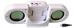 Tektrum Portable Fold-Up Speaker For Ipod Touch, Video, Mini, Nano, Shuffle, Mp3, Pc, Laptop, Cd
