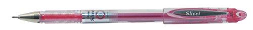 Pentel BG207 Slicci - Bolígrafo con tinta de gel (punta de aguja, 0,35 mm), color rosa