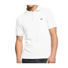 "Lacoste Piqué Polo Shirt ""Color White Size M"""