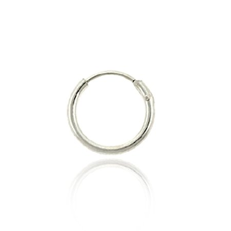 Sterling Silver 10mm Mens Hoop Earring
