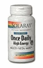 Solaray Once Daily High Energy Iron-Free Supplement, 90 Count