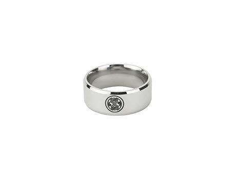 Doctor Who Seal of Gallifrey / Rassilon Surgical Stainless Steel Ring 316L SIZE 7 (Doctor Who Seal Of Rassilon Ring compare prices)