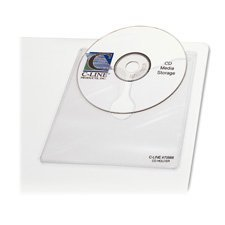 Self-Adhesive CD Holder, 5 1/3 x 5 2/3, 10/PK