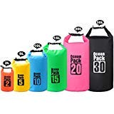 2L/3L/5L/10L/15L/20L/30L 500D Tarpaulin Heavey-Duty PVC Water Proof Dry Bag Sack for Kayaking / Boating / Canoeing / Fishing / Rafting / Swimming / Camping / Snowboarding (Color: Black, Tamaño: 10L)