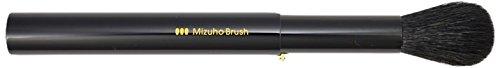 熊野筆 Mizuho Brush スライド式チークブラシ 黒