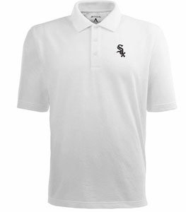 Chicago White Sox Classic Pique Xtra Lite Polo Shirt (White) - XXX-Large by Antigua