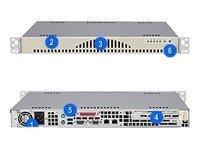 Supermicro CSE-512L-260 SC512L-260 - Rack-mountable - 1U - ATX 260 Watt - beige