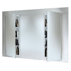 Jensen 663BC Low Profile Narrow Body Medicine Cabinet with Polished Mirror, 15-Inch by 36-Inch