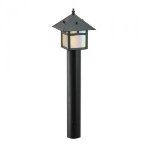 Focus AL-09-LEDPBLT Outdoor Area Light with White Plastic Shades, Black
