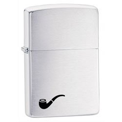 Brushed Chrome Pipe Lighter