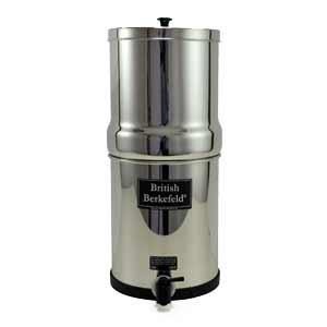"Big Berkey Water Filter With 2 7"" British Berkefeld Ceramic Filters & 2 Pf-4 Fluoride Filters"