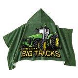 John Deere Big Tracks Green Hooded Towel Wrap