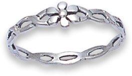 A forma di fiore in argento e Anello twist 1182, varie taglie disponibili sul mercato spedito in confezione regalo di prima classe della posta., Argento, 19, cod. 118259