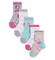 5 Pairs of Fairy & Striped Socks