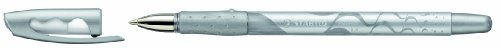 Stabilo - Bolígrafo de tinta de gel (10 unidades), color plateado