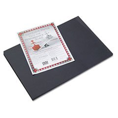 Pacon 103631 Riverside Construction Paper, 76 lbs., 12 x 18, Black, 50 Sheets/Pack - 1