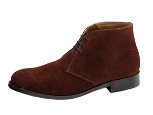 Samuel Windsor Prestige Collection Chukka Boot Suede Brown: Size 6