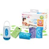 Munchkin Arm and Hammer Disposable Changing Pad - 10 Pack WITH Diaper Bag Dispenser Colors May Vary PLUS 36 Refill Bags