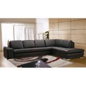 Beverly Hills Furniture Blocksectionallhf Full Leather Facing Left Chaise Sectional In Brown Blocksectionallhf front-781010